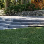 Bridgewood steps with octagon patio