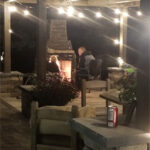 fireplace outside leisure landscape lighting