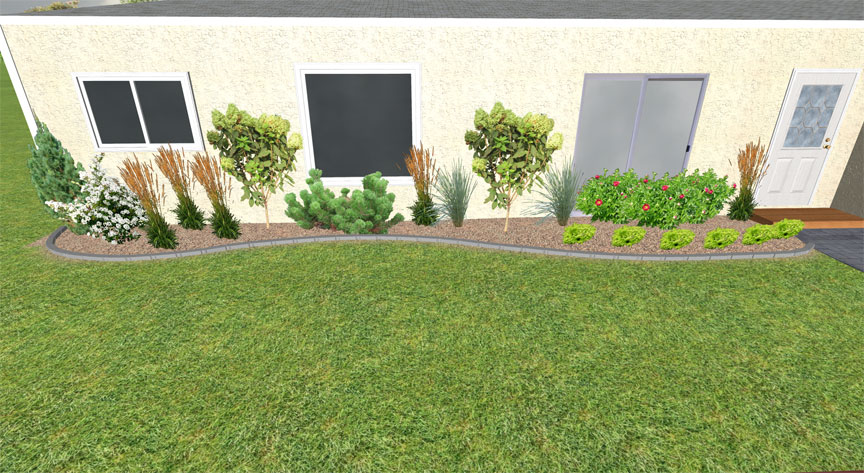 flower bed edge landscape design