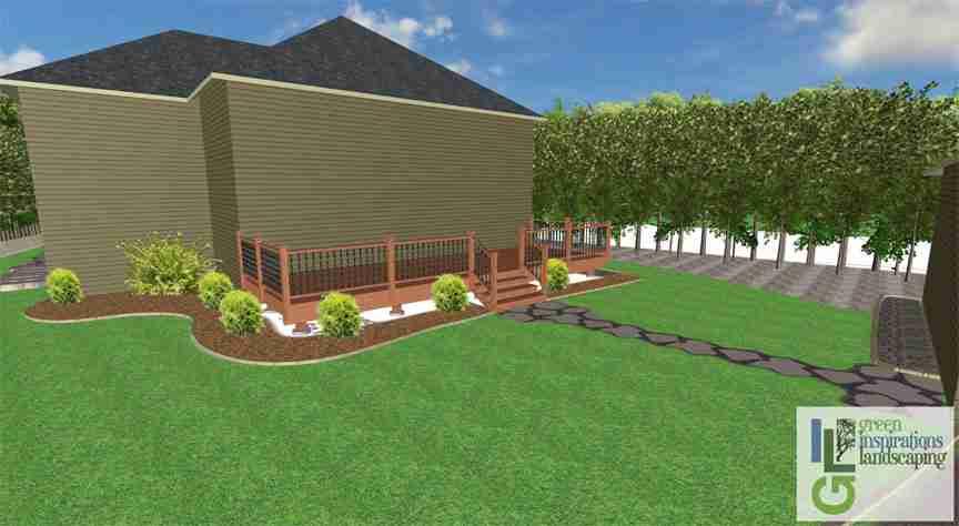 flower garden pathway design