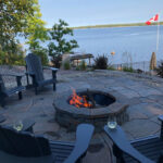 nutimik lake grand flagstone patio and fire pit