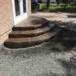half circle steps