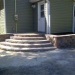 half circle steps retaining wall