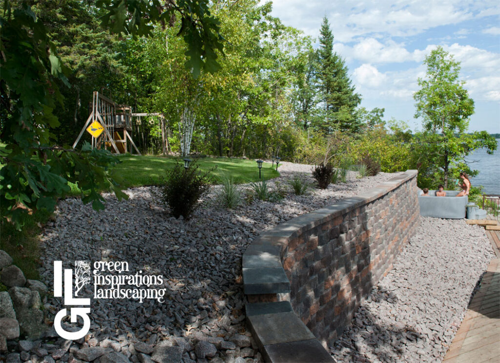 lakefront retaining wall complete