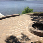 lakeside interlocking brick patio