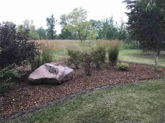 landscape enhancement mulch bed
