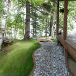landscape enhancement narrow rock bed
