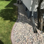 landscape enhancement rock bed