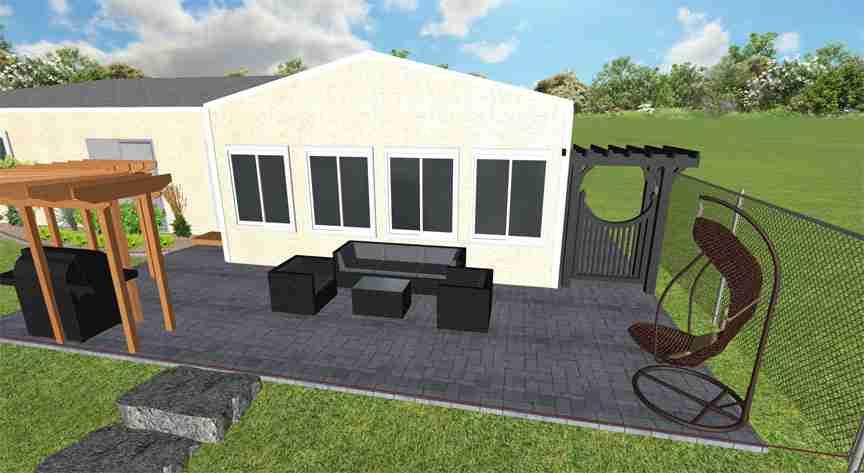 outdoor patio landscape design