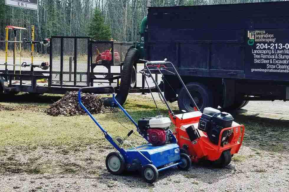 power rake, aerator, leaf vaccuum