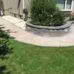 retaining wall pathway