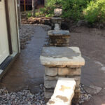 retaining wall walkway pillars