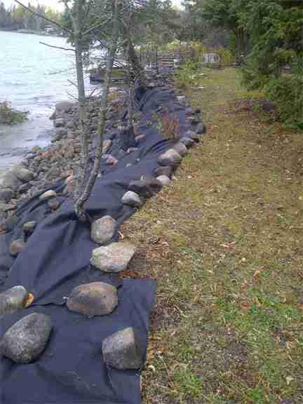 riverbank stabilization prep