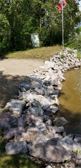 riverbank stabilization rip rap