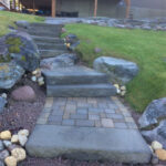 stone steps and paving stones