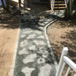 walkway with design