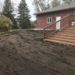 soil grading with grass seed